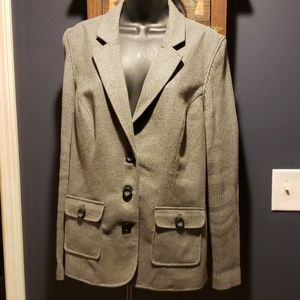 Cabi wool and cable knit ribbed jacket size XL